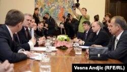 Tomislav Nikolić na sastanku sa kosovskim Srbima, 28. novembar 2012. Beograd