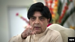 Pakistani Interior Minister Chaudhry Nisar Ali Khan (file photo)