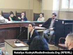 Журналістка Іларія Морані під час свідчень на суді 14 грудня 2018