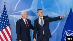 Sjedinjene Države podržavaju NATO: Potpredsednik SAD Majk Pens sa sekretarom Alijanse Jensom Stoltenbergom