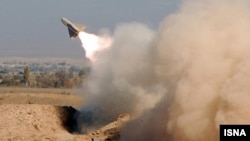 A missile is launched during Iranian military exercises (file photo)