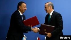 """Илхам Алиев жана Режеп Тайип Эрдоган """"ТАНАП"""" газ куурунун ачылышында"""