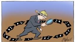 Работа белградского политического карикатуриста Предрага Кораксича Коракса