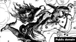 Крылатые сандалии Персея помогают ему нести голову Горгоны