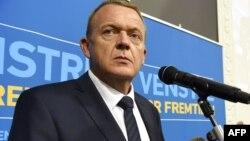 """Данияның парламент сапйлауында жеңіске жеткен """"Венстре"""" партиясының жетекшісі Ларс Локке Расмуссен."""