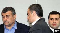ლევან გაჩეჩილაძე (მარცხნივ) და ირაკლი ალასანია (მარჯვნივ)