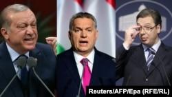 Politika suprotna principima EU: Redžep Tajip Erdogan, Viktor Orban i Aleksandar Vučić