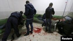 مجروحان جنگی در بیمارستانی در قامیشلی