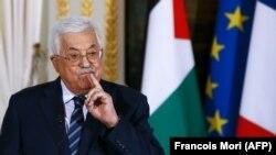 Palestinski predsjednik Mahmud Abas na pres-konferenciji u Parizu, 22. decembar 2017.
