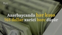 Azərbaycanda adambaşına dövlət borcu 765 dollara çatıb