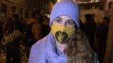 Márky Anna Diána, SZFE hallgató nyilatkozik október 16-án.
