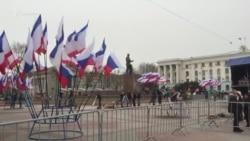 Российские выборы под песни и пляски в Крыму (видео)