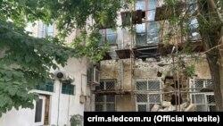 Обрушение в здании по адресу улица Пушкина, 3, Симферополь, 10 августа 2021 года