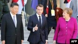 عکس آرشیوی از دیدار رهبران آلمان، فرانسه و چین در مارس سال ۲۰۱۹