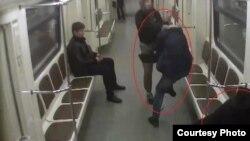Moskva metrosunda miqranta hücum.
