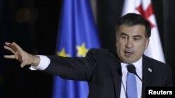 Georgian President Mikheil Saakashvili in Tbilisi on January 17.