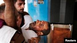 Një palestinez i plagosur, ilustrim.