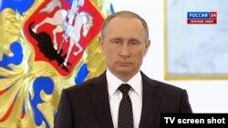 Владимир Путин в Георгиевском зале 3 декабря 2015