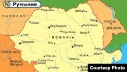 Карта Румынии и Молдовы. Иллюстративное фото.