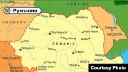Мапа Румыніі