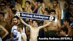 Bakıda 'Qarabağ' sevinci - gülən üzlər fotolarda
