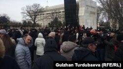 Акция протеста в столице Кыргызстана. Бишкек, 18 декабря 2019 года.
