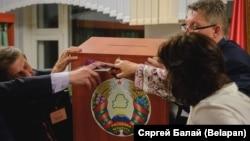 Подсчет голосов на выборах в Белоруссии