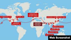 برنامه سفر سولار ایمپالس به دور دنیا