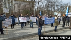 Protestul feroviarilor, Chișinău, joi 4 martie 2021.