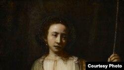 Самоубийство Лукреции. 1666 год. Фрагмент. Институт искусств в Миннеаполисе
