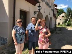 Туристы в Железнодорожном