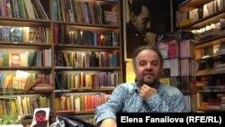 Миленко Ергович на встрече с читателями в Любляне, книжный магазин Sanje