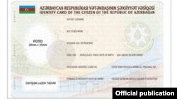 Azerbaijan --- new ID card simple for citizens