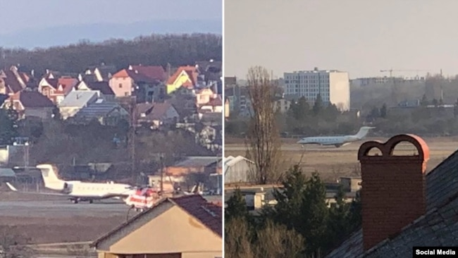 Цей же літак з'являвся і на фотографіях мешканців Ужгорода, які живуть поруч із тамтешнім летовищем