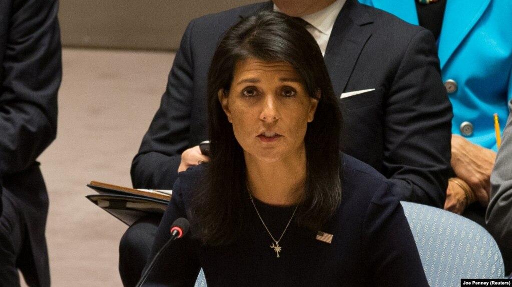 سفیر آمریکا در سازمان ملل گفته است که نباید اجازه داد از توافق هستهای به عنوان پوششی برای نقض هنجارهای بینالمللی و قطعنامههای سازمان ملل استفاده شود.