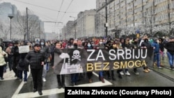 Protest zbog zagađenja vazduha u Beogradu, 10. januar