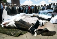 Bodies of the dead following the Andijon crackdown in May 2005 (AFP)