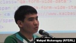 Программист Ербол Серікбай. Астана, 22 желтоқсан 2012 жыл.