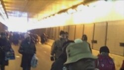 Inauguration - Crowds In Tunnel, In Line