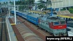 Ukraine, Crimea - Simferopol railway station, 14May2015