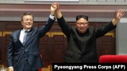 Kim Jong Un və Moon Jae-in