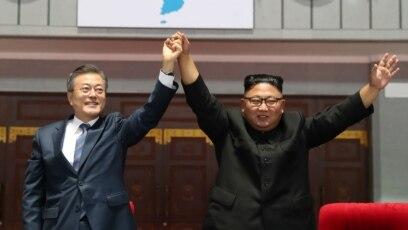 Lideri dvije Koreje u Pjongjangu, 19. septembar 2018.