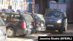 Fotografi arkivi nga stacioni i Policisë së Kosovës në veri të Mitrovicës