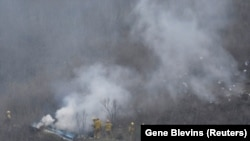 Vatrogasci na mestu pada helikoptera