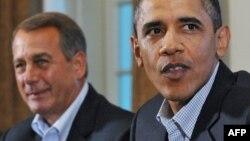 АҚШ Вакиллар палатаси спикери Жон Бэйнер АҚШ Президенти Барак Обама.