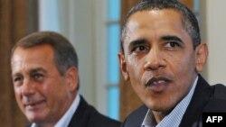 Спикер Палаты представителей Конгресса США Бейнер и президент Обама