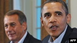 John Boehner alături de președintele Obama în 2011