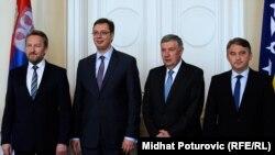 Aleksandar Vučić i članovi Predsjedništva BiH, 13. maj