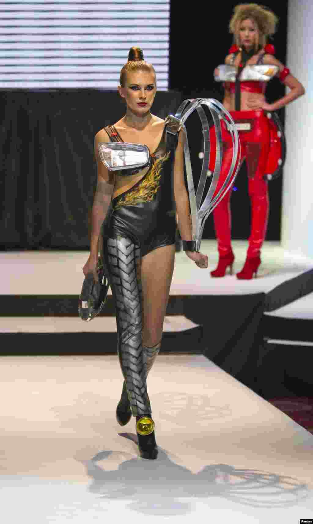 Anara Salykbayeva used the contest to showcase this daring creation.