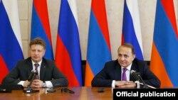 Հայ - ռուսական միջկառավարական հանձնաժողովի համանախագահներ Հովիկ Աբրահամյանի և Մաքսիմ Սոկոլովի համատեղ ասուլիսը Երևանում, 26-ը հունիսի, 2015թ․